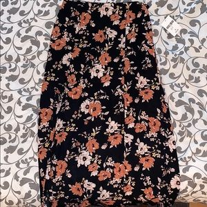 Forever 21 Large Maxi Skirt with Flowers
